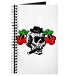 Rockabilly Cherries & Smoking Skull Journal