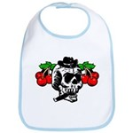 Rockabilly Cherries & Smoking Skull Bib