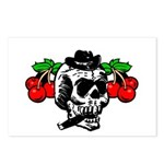 Rockabilly Cherries & Smoking Skull Postcards (Pac