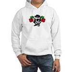 Rockabilly Cherries & Smoking Skull Hooded Sweatsh