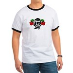Rockabilly Cherries & Smoking Skull Ringer T