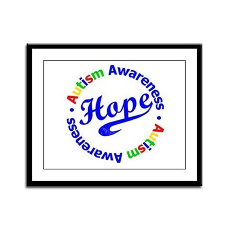 Autism Hope Framed Panel Print