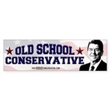 Old School Conservative Bumper Car Sticker
