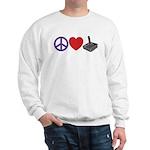 Peace Love & Joystick: Sweatshirt