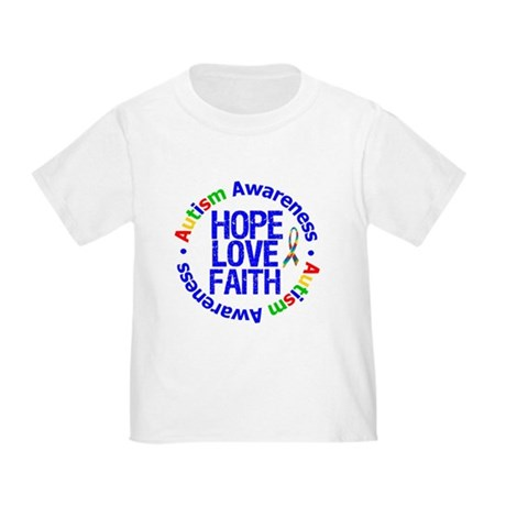 Autism HopeLoveFaith Toddler T-Shirt