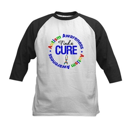 Autism Find A Cure Kids Baseball Jersey