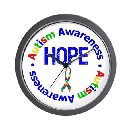 Autism Hope Wall Clock
