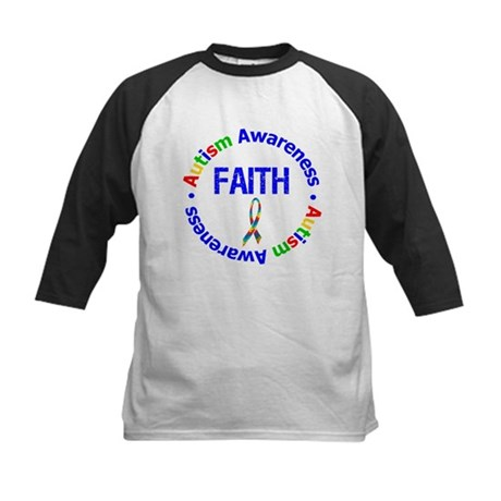 Autism Faith Kids Baseball Jersey