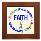 Autism Faith Framed Tile