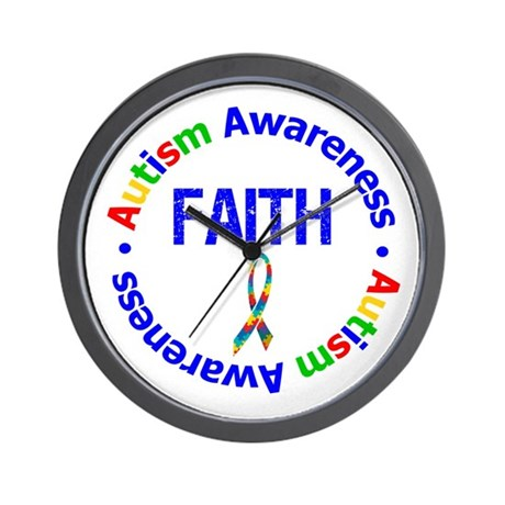 Autism Faith Wall Clock