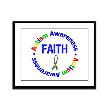 Autism Faith Framed Panel Print