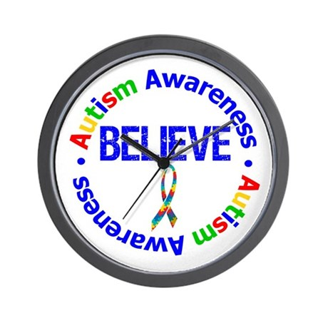 Autism Believe Wall Clock