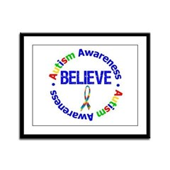 Autism Believe Framed Panel Print