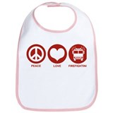 Peace Love Firefighting Bib