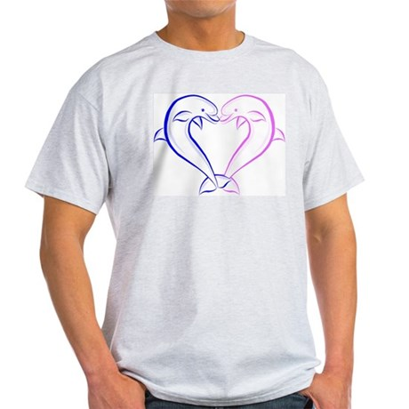 Dolphin Heart Blue and Pink Light T-Shirt