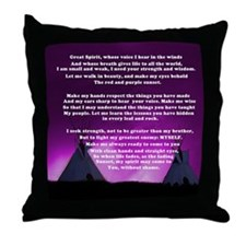 Lakota Great Spirit Prayer Throw Pillow