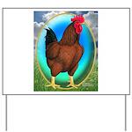 Broiler Opal Chicken Yard Sign