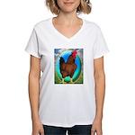 Broiler Opal Chicken Women's V-Neck T-Shirt