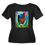 Broiler Opal Chicken Women's Plus Size Scoop Neck