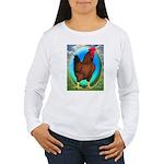 Broiler Opal Chicken Women's Long Sleeve T-Shirt