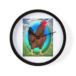 Broiler Opal Chicken Wall Clock