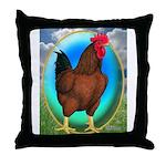 Broiler Opal Chicken Throw Pillow