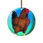 Broiler Opal Chicken Ornament (Round)