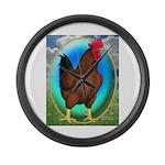 Broiler Opal Chicken Large Wall Clock