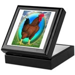 Broiler Opal Chicken Keepsake Box