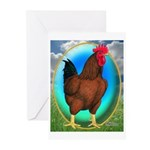 Broiler Opal Chicken Greeting Cards (Pk of 10)