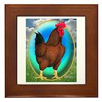 Broiler Opal Chicken Framed Tile