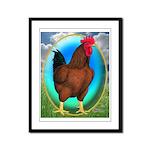 Broiler Opal Chicken Framed Panel Print