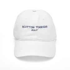 Scottish Terriers Rule Baseball Cap