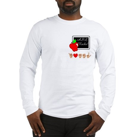 I Love ASL Male Long Sleeve T-Shirt