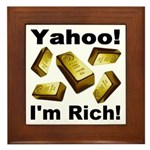 Yahoo! I'm Rich! Framed Tile