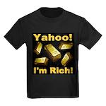 Yahoo! I'm Rich! Kids Dark T-Shirt