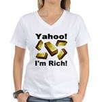 Yahoo! I'm Rich! Women's V-Neck T-Shirt