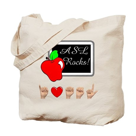 Teacher Female I Love ASL Female Tote Bag