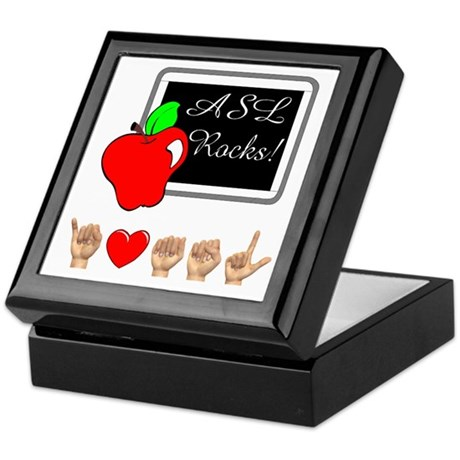 Teacher Male I Love ASL Keepsake Box