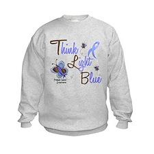 Think Light Blue 1 Butterfly 2 Sweatshirt