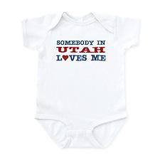 Somebody In Utah Loves Me Infant Bodysuit