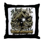 USCB Brown Reptile Camo Throw Pillow