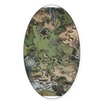 Custom Camoflauge2 Oval Sticker