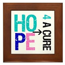 Hope Cure Thyroid Cancer Framed Tile