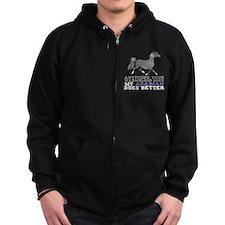 Arabian Horse Zip Hoodie