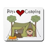 Boys Love Camping Mousepad