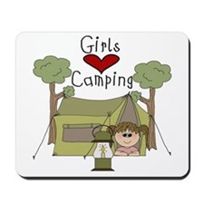 Girls Love Camping Mousepad