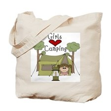 Girls Love Camping Tote Bag