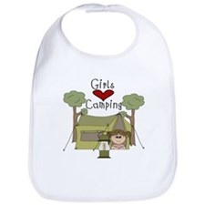 Girls Love Camping Bib