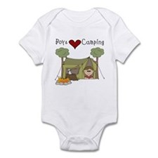 Boys Love Camping Infant Bodysuit